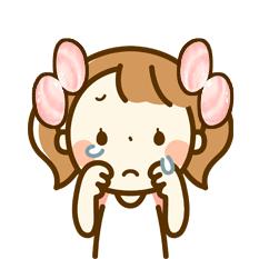 潮干ガリレイが泣いている顔のイラスト