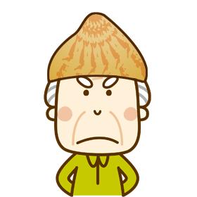 潮干ガリレオの怒った顔のイラスト