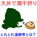 愛知県の大井の潮干狩り情報を紹介するイラスト