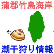 蒲郡竹島海岸の潮干狩り情報を紹介するイラスト