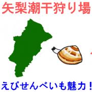 矢梨潮干狩り場の潮干狩り情報を紹介するイラスト
